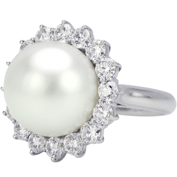 pearl diamond ring statement jewelry important south sea