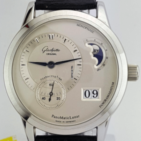 Glashütte Original Panomatic Lunar Tainless Steel REF 90-02-02-02-04