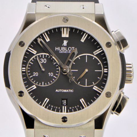 Hublot Classic Fusion Titanium Chronograph Full package - SEA Wave Diamonds