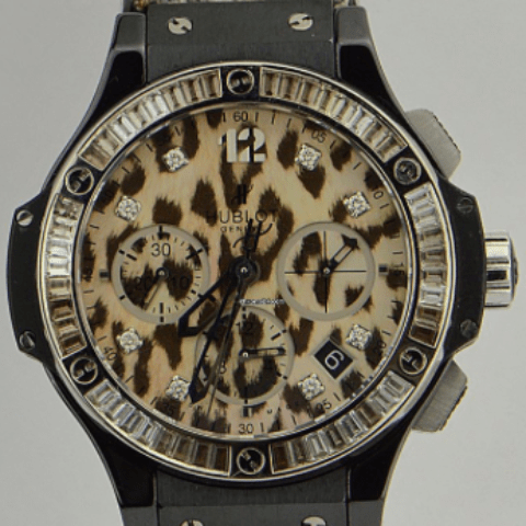 Hublot Big Bang Chronograph Leopard Dial Unisex Watch - SEA Wave Diamonds