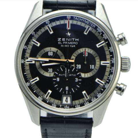 Zenith El Primero 36'000 VpH Chronograph PRICE REDUCED - SEA Wave Diamonds