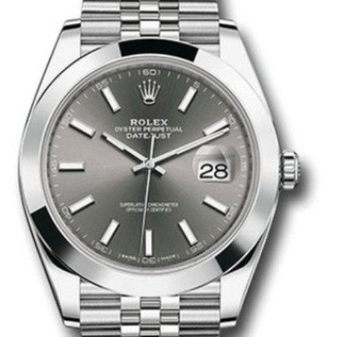 Rolex Date just 41mm dark rhodium dial 126300 dkrij