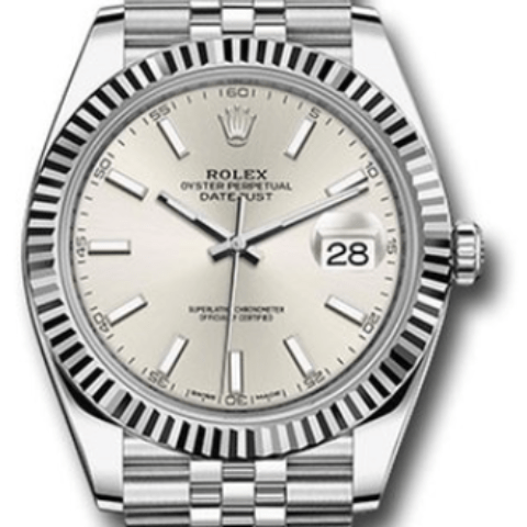 Rolex Datejust 41mm Silver Stick dial 126334 sij