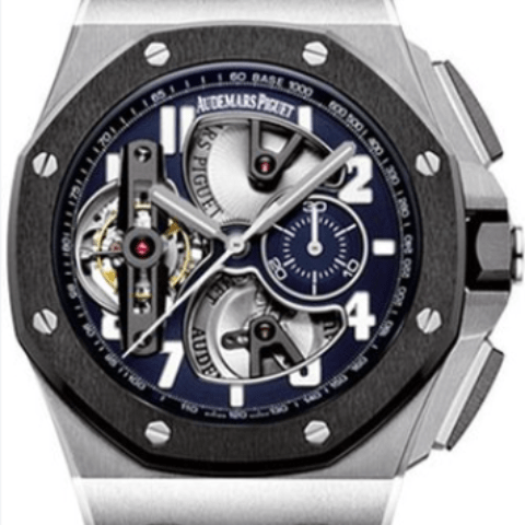 Audemars Piguet Royal Oak Offshore Tourbillon Chronograph - SEA Wave Diamonds