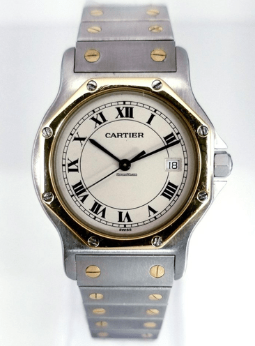 Cartier Santos Ronde Gold / Steel 31mm Twotone - SEA Wave Diamonds