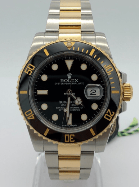 Rolex Submariner Two Tone 40MM Very Good Pre Owned with Box 2001 116613