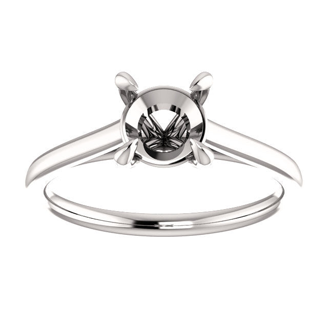 Four Prong Solitaire Engagement Ring Mounting