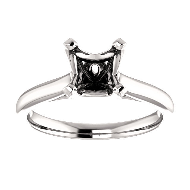 Square Engagement Ring Mounting - SEA Wave Diamonds