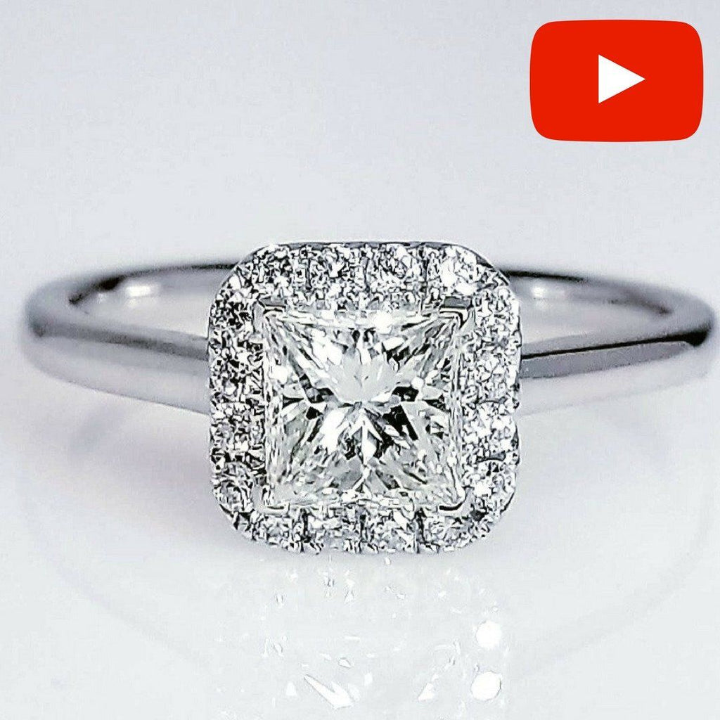 certified f rings princess diamond ct in d engagement g cut wedding ring gold sidestones white twt