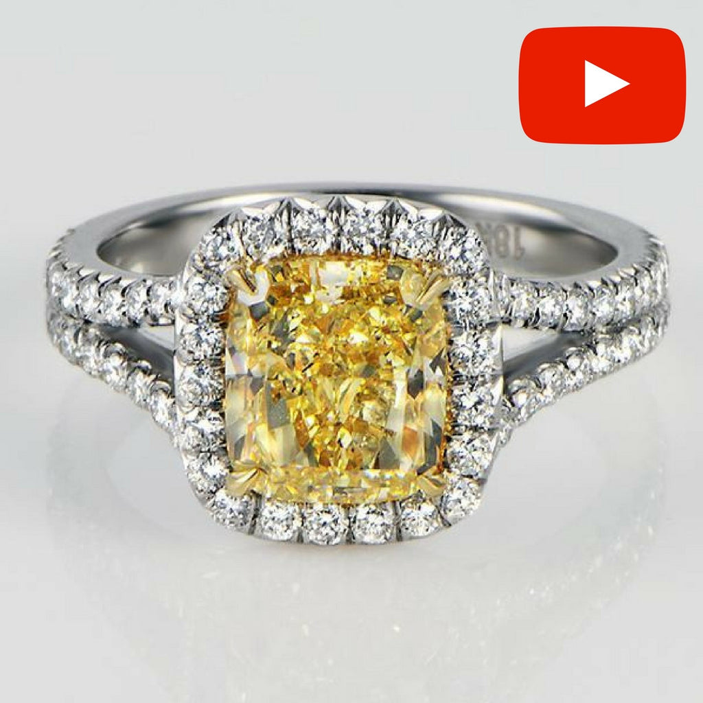 fancy light oval diamond engagement cut two yellow ct tone ring gold carat product rings