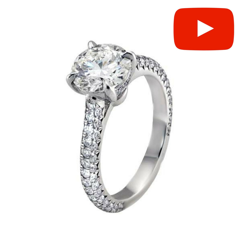 Round Brilliant Royal Pave Diamond Engagement Ring ENGR01987