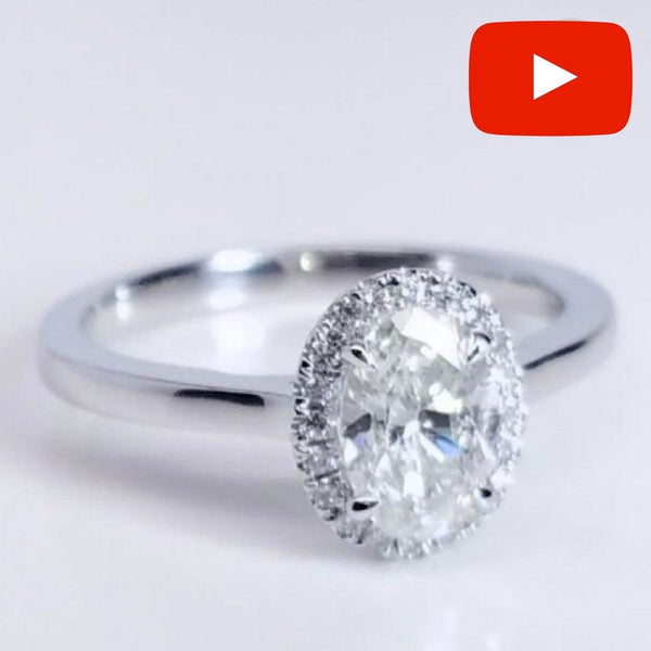 Oval Halo Diamond Engagement Ring ENGR03119