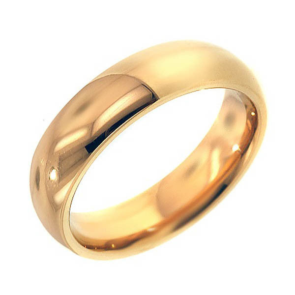 14K Yellow Gold 5mm Wedding Band - SEA Wave Diamonds