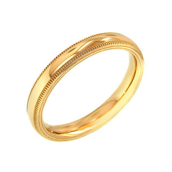 14K Yellow Gold Plain Band - SEA Wave Diamonds