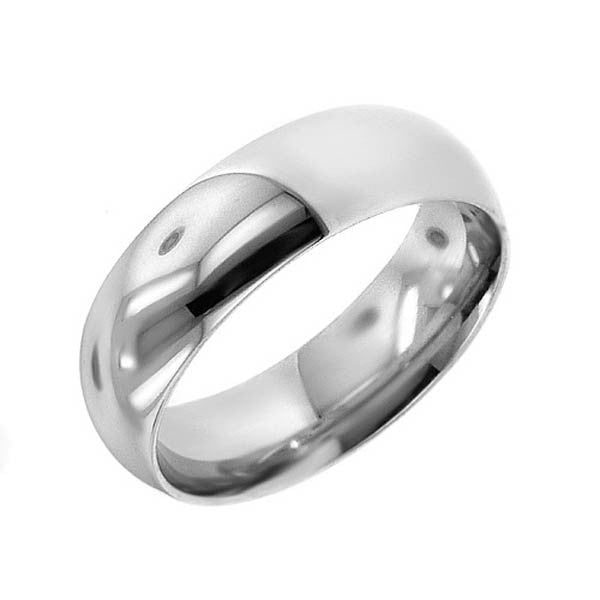 Low-Dome Classic Wedding Ring  in Platinum (10mm) - SEA Wave Diamonds