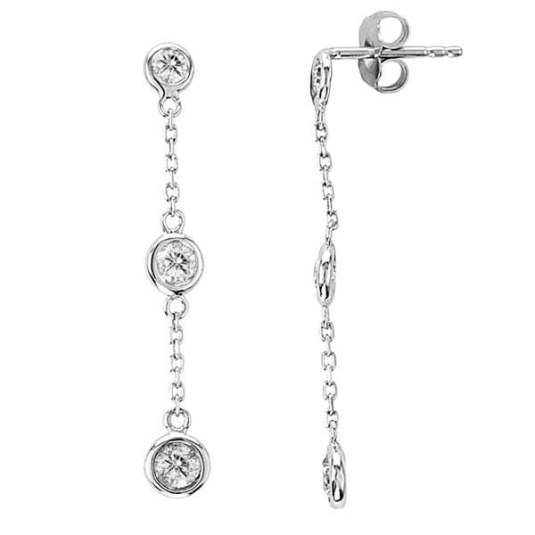 Diamond Drop Earrings - SEA Wave Diamonds