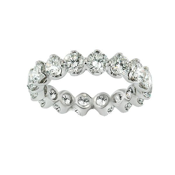 3.91 Carat Diamond Eternity Band in Platinum (3.91 ct. tw.) - SEA Wave Diamonds