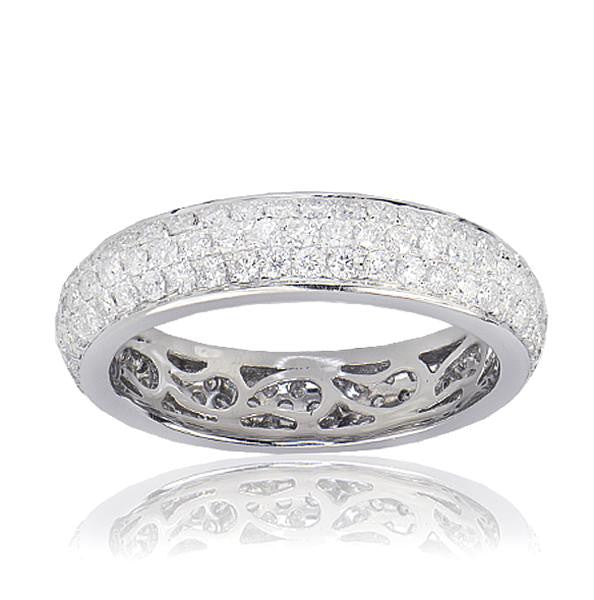 3 Row Diamond Eternity Band - SEA Wave Diamonds