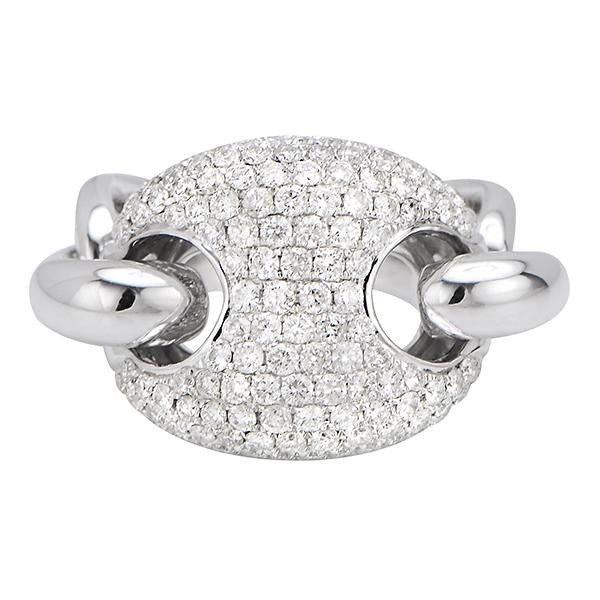 Link Diamond Ring
