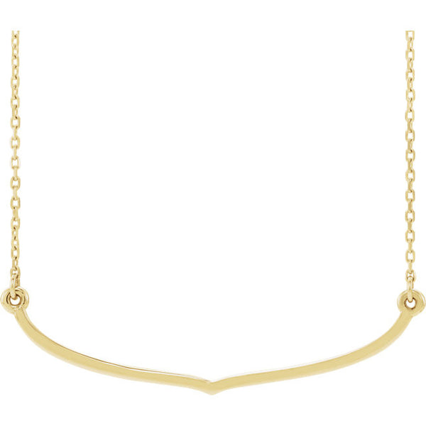 14K Freeform Bar Necklace - SEA Wave Diamonds