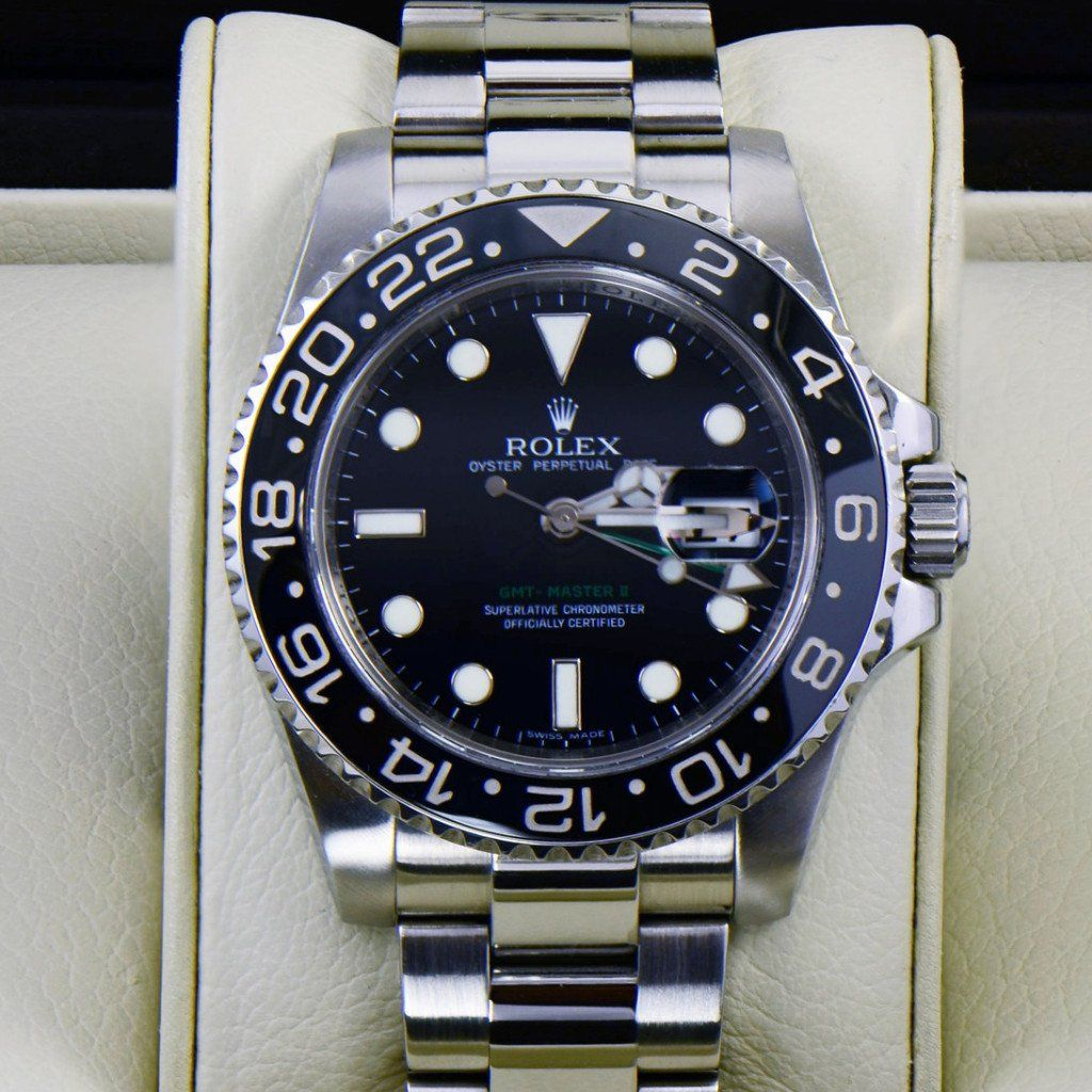 Rolex GMT Master II Ceramic Bezel Stainless Steel 116710 - SEA Wave Diamonds