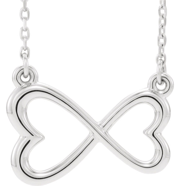 14K Infinity-Inspired Heart Necklace - SEA Wave Diamonds