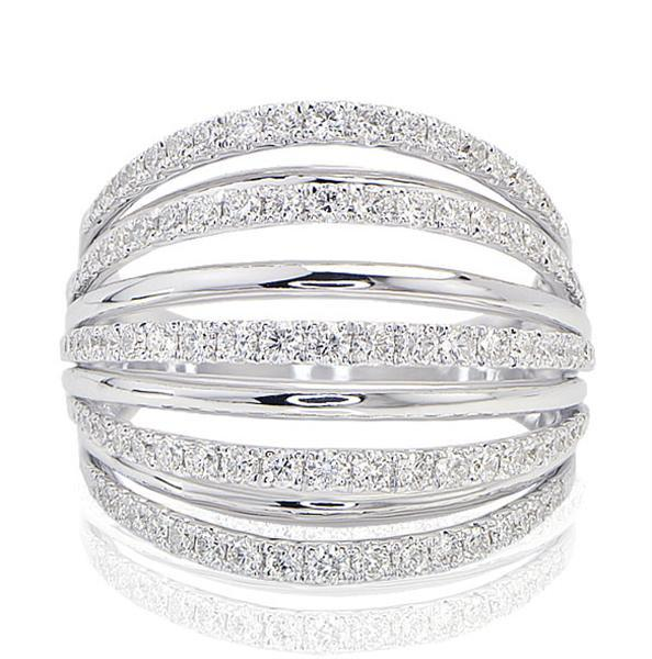 Ladies Cocktail Fashion Diamond Ring - SEA Wave Diamonds
