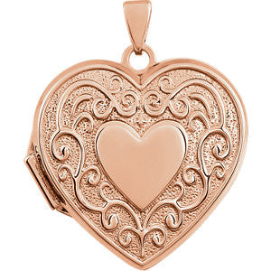 Heart Shaped Locket - SEA Wave Diamonds