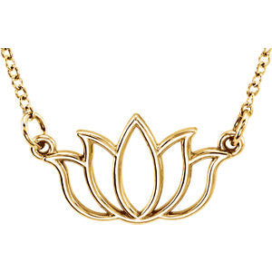 Tiny Posh Lotus Necklace - SEA Wave Diamonds