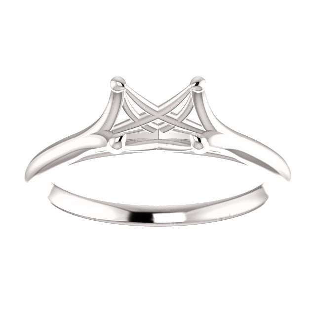 Round Solitaire Ring Mounting - SEA Wave Diamonds