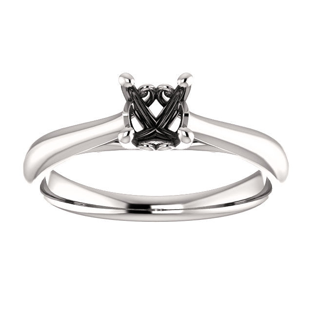 Solitaire Engagement Ring Mounting - SEA Wave Diamonds