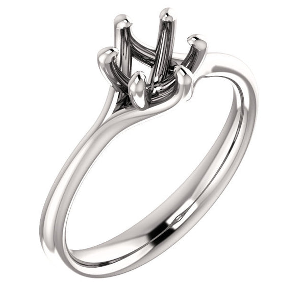 Six Prong Engagement Ring Mounting