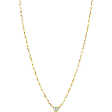 Single Diamond Necklace 18K Yellow Gold PEND01686