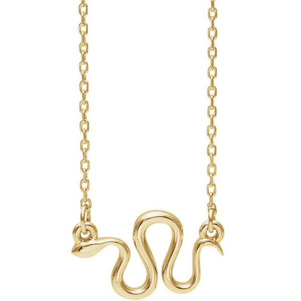 14K Snake Necklace - SEA Wave Diamonds