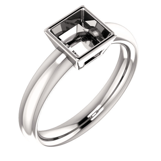 Square Engagement Ring Mounting