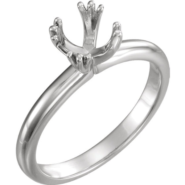 Twin-Prong Solitaire Engagement Ring - SEA Wave Diamonds