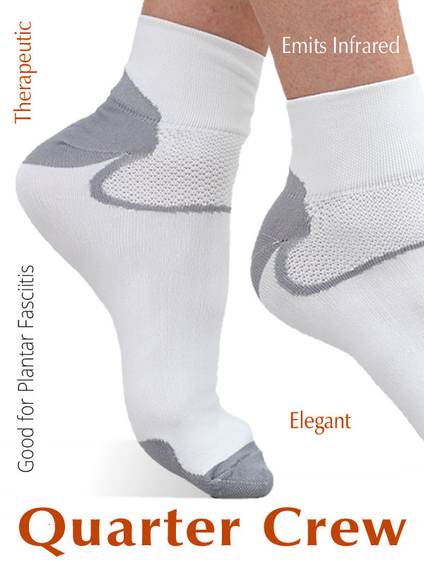 FIR Socks help reduce pain and inflammation of the Plantar Ligament.