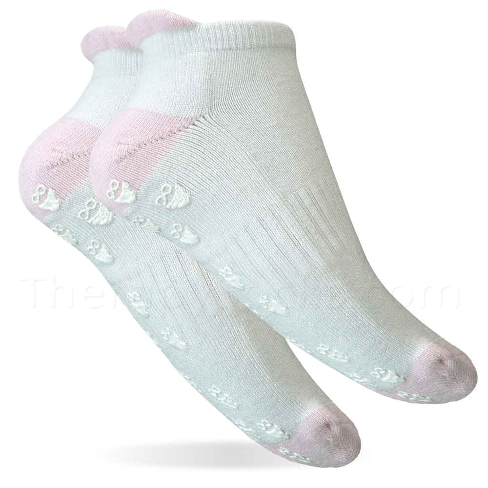 3 Pair Bamboo Non-skid Ankle Socks - Women Perfect Socks for Home Care Patients
