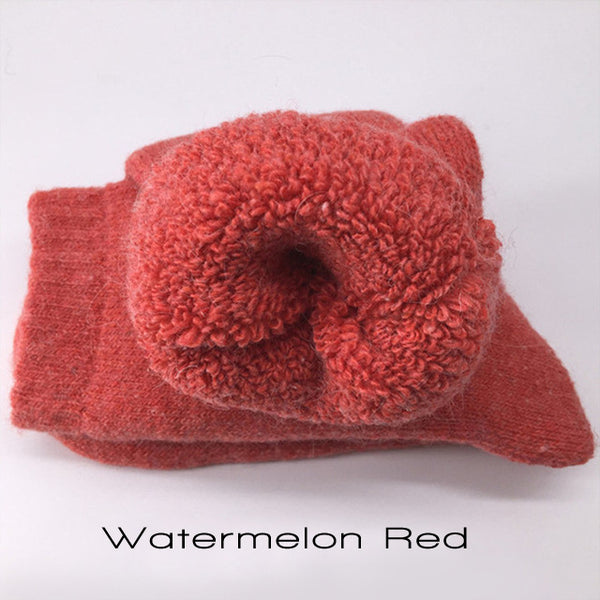 Super Thick Merino Wool Socks  Watermelon Red
