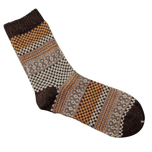Angora Cashmere Blend Socks Coffee
