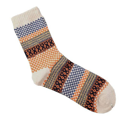 Angora Cashmere Blend Socks Cream