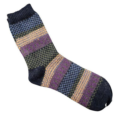 Angora Cashmere Blend Socks Dark Blue