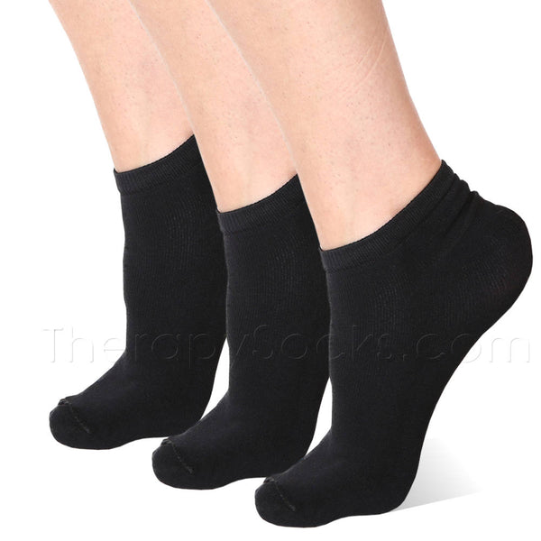 3 pair Black Far Infrared Bioceramic Circulation Ankle Socks