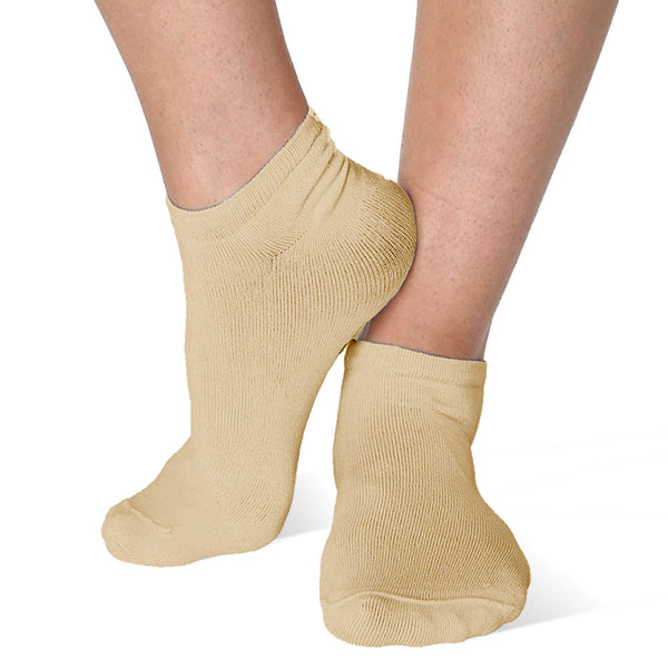 Far Infrared Circulation Ankle Socks in Nude (beige)