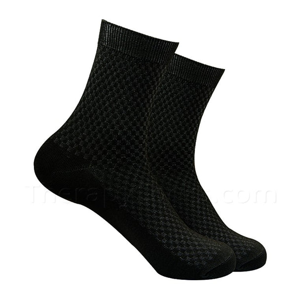 Black Bamboo Fiber Socks for Men