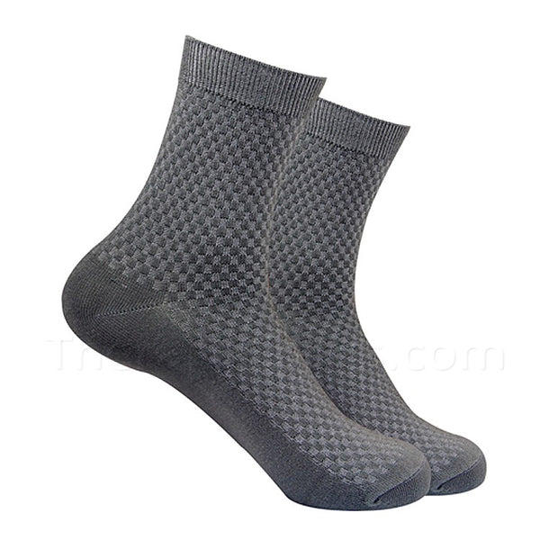 Dark Grey Bamboo Fiber Socks for Men