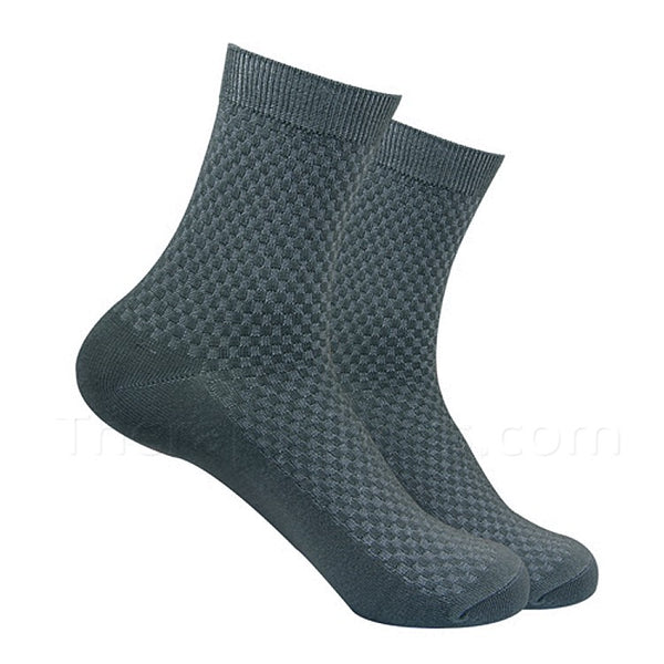 Green Grey Bamboo Fiber Socks for Men