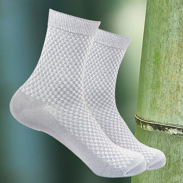 Light Grey Men's Bamboo Business Socks