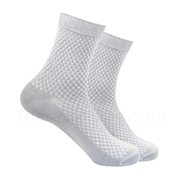 Light Grey Bamboo Fiber Socks for Men