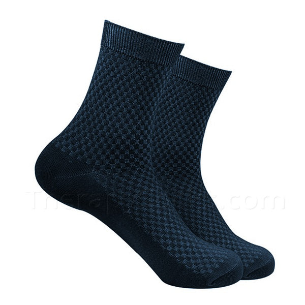 Navy Blue Bamboo Fiber Socks for Men